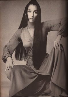 Cher vogue '60's - Not your average femme fatale . . . Cher was beautiful because she decided she was, and the world fell in line. And she IS. Stunning.