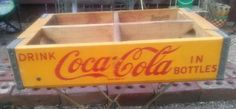 "Vintage/Retro/MidCentury Durabilt ""Drink Coca-Cola In Bottles"" Crate #DurabiltforCocaCola  this #vintage #retro #MidCentury #Durabilt #CocaCola delivery #crate advertises #DrinkCocaColaInBottles in paint that is still quite #bright considering its age and use. this #cool crate does show some wear but that just lends to its #charm. #buy it now on #ebay!"