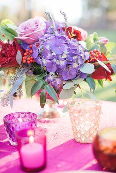 elegant pink and purple wedding   Kimberly Florence   Glamour & Grace