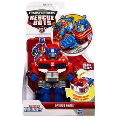 Transformers Rescue Bots Playskool Heroes Optimus Prime Action Figure [Trailer], Multicolor