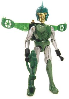 Some Micronauts were all metal construction. Space Glider came in various colors. Mine was Green. Snapping those wings out was awesome. His helmet, however, was ill fitting and terrible!