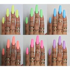 Pastel neons inspiration - perfect colours for Summer - adds a touch of brightness to any outfit especially if your outfit is all white or black #lit...x
