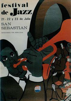 San Sebastian's Jazz Festival poster