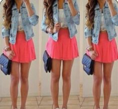 Love the brightly colored skirt!