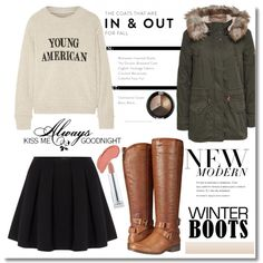 Awesome Winter Boots by dora04 on Polyvore featuring The Elder Statesman, Polo Ralph Lauren, Madden Girl, NYX, Love Quotes Scarves and winterboots