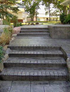 concrete front steps design ideas | Concrete Patios Patio Slab Ideas ...