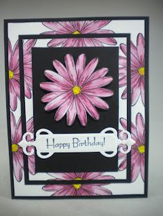 Janett's Stamping Place: Triple Layer Card with a different top layer I like this