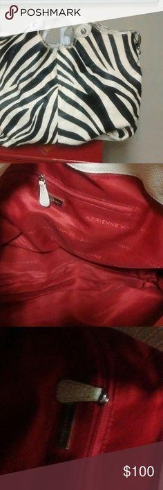 c121377a9f5e zebra skinbag Good condition Adrienne Vittadini Bags