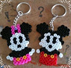 Minnie and Minnie keychain hama beads by El Rincón de BELAME