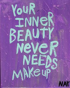 So true. This is definitely something for young girls to think about. So many young women alter the beauty they were born w/ by adding false lashes, insane amount of blush, too much eye shadow. If we just let our natural beauty blossom, we will be a force to reckon w/