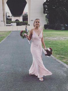 ff066dfd932a7 Cheap Light Pink Spaghetti Strap V Neck Bridesmaid Dresses – SheerGirl  Light Pink Bridesmaid Dresses,