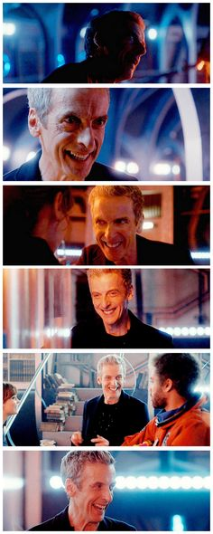 You can see the young Peter when he smiles.  He really is an attractive fellow...  I'd still prefer Matt Smith IYKWIM