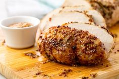 Pork Loin Roast. Yum! Cook to 140 and rest 15 min will bring temp to 145=tender, juicy pork!