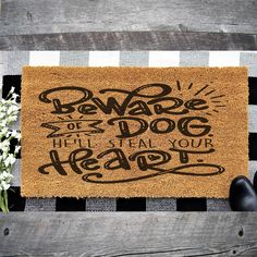 Our beautiful, high quality Coir mats make a great gift or unique home decor for all ! These floor mats are engraved using a state fo the art commercial laser engraver to create a beautiful piece of decor for you and guest to enjoy and admire. Unique Home Decor, Diy Home Decor, Dog Door Mat, Coir Doormat, Spring Home Decor, Farmhouse Design, Floor Mats, Customized Gifts, Decor Styles