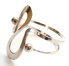 Norway Plus Design Sterling Silver Bracelet Modernist W with ND Bag #norway #modernist #danishmodern $395.00