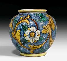 Maiolica aphoteke jar, Caltagirone, 17th c.