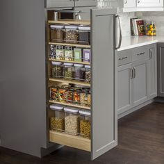 Get Hardware Resources PPO2-554 Wood Pantry Cabinet Pullout 5-1/2'' X 22-1/4'' X 53''.