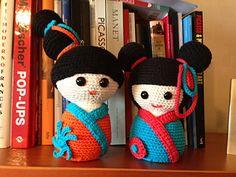 Kokeshis everywhere! Japanese dolls ~ free pattern ᛡ