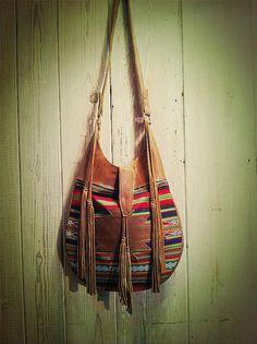 Want! Southwest Aguayo Tassel Bag by nativerainbow on Etsy