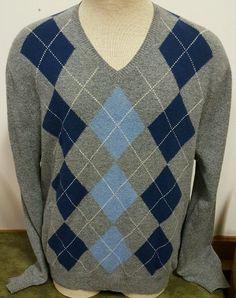 J Crew Men's Sweater 100 Lambs Wool Gray Blue White Size XL 1x | eBay