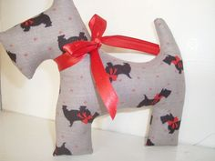 Scottie dog  grey with black scotties by juliekope on Etsy, $6.00