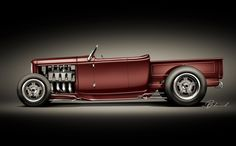 Hollywood Hot Rods / 32 Ford Roadster Pickup #hotrodsclassiccars