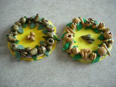 petites couronnes de fruits et légumes
