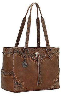 Bandana by American West Breckenridge Collection Tan Carry on Tote | Cavender's