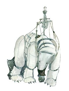 """""""Environmental charity Greenpeace will march a three-tonne mechanical polar bear through central London next month as part of its Save the Arctic campaign.  Aurora the bear will be operated by 30 puppeteers and will have an articulated head and neck, """"a mouth like an ice cave"""" and """"a realistic curved gait,"""" according to early technical drawings."""""""