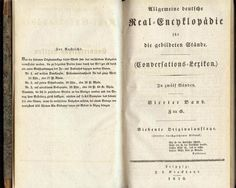 Rare Volume German Encyclopedia 1830