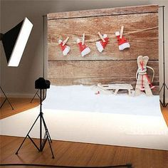 Vinyl CHRISTMAS Snow Hat Photography Background Prop Photo Studio Backdrop 7X5ft
