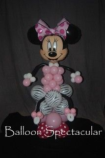 Minnie Mouse Balloon Decoration/Centerpiece