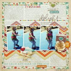 A Stash of Pretty Paper: My Creative Scrapbook July Main Kit: Simple Stories I Heart Summer