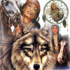 From Wolf Tales on Facebook.  Fabulous wolf picture with dream catcher