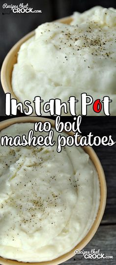 Mar 2018 - If you are looking for a super easy way to make up a big ol' batch of delicious and creamy mashed potatoes on a busy weeknight or chaotic weekend? This Instant Pot No Boil Mashed Potatoes recipe is just what you need! Mashed Potatoes No Milk, Pressure Cooker Mashed Potatoes, Mashed Potato Recipes, Instant Pot Pressure Cooker, Pressure Cooker Recipes, Pressure Cooking, Pressure Pot, Crockpot Recipes, Cooking Recipes