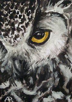 watercolor owl (SushiShefs on Etsy)