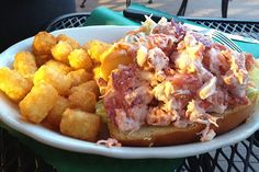 Ironically, one of the best lobster rolls in the Boston area is from a dive bar not even near the ocean--Doyle's Pub and Grill in Brockton, MA. And the tots are just icing on the cake. (from slideshow at http://www.hiddenboston.com/foodphotos/twelve-best-2012-6.html)