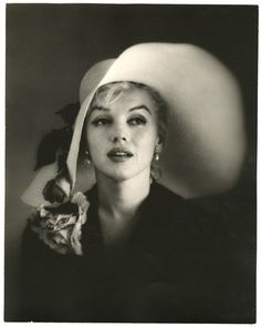1958 MARILYN MONROE OVERSIZED HATTED PHOTOGRAPH PIN UP CARL PERUTZ MASTER PRINT  $3,900.00