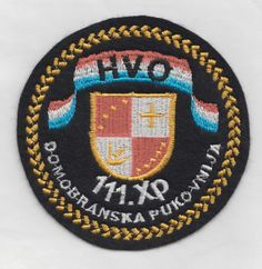 CROATIA ARMY - HVO- 111 XP DEFENSE REGIMENT - ŽEPČE ,rare embroidered type patch