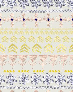 print & pattern: FABRICS - leah duncan