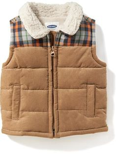 Shop online for discount baby boys' clothing at Old Navy. Our trendy values in clothes and accessories could be what you've been looking for. Winter Outfits For Girls, Toddler Boy Outfits, Toddler Boys, Girl Outfits, Toddler Chores, Baby Boys, Baby Boy Vest, Baby Boy Swag, Chaleco Casual