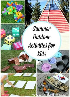 Summer Outdoor Activities for Kids - PinkWhen - Need a few good boredom busters? Check out these Summer Outdoor Activities for Kids. Outdoor Summer Activities, Fun Activities For Kids, Outdoor Fun, Outdoor Hammock, Outdoor Games, Creative Activities, Indoor Activities, Family Activities, Diy Spring