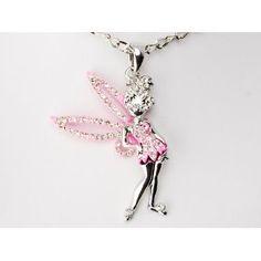 Fun Flirty Pink Tinkerbell Sparkle Wings Crystal Rhinestone Fashion Necklace (Jewelry)  http://www.amazon.com/dp/B0052YNJ7K/?tag=iphonreplacem-20  B0052YNJ7K