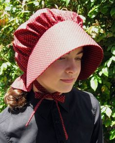 Pioneer sunbonnet for women or older girls - custom order - you choose fabric. $16.95, via Etsy.