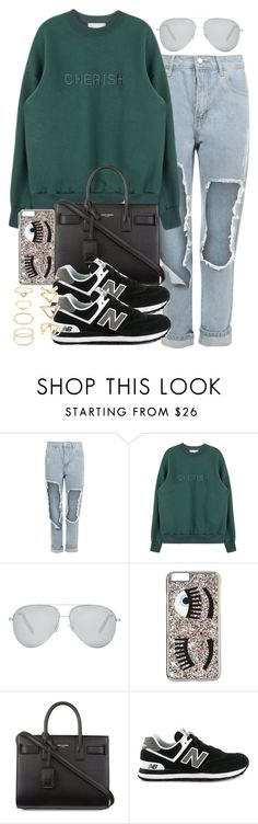 """Untitled #3406"" by hellomissapple on Polyvore featuring WearAll, Victoria Beckham, Chiara Ferragni, Yves Saint Laurent, New Balance, Forever 21, women's clothing, women's fashion, women and female"