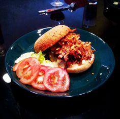 Pulled Pork hamburger, quite tasty.