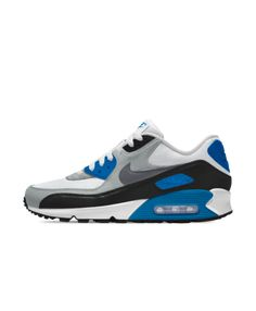 best loved 99933 b9050 Nike Air Max 90 iD Wolf Grey Polarized Blue Black White Women s Shoes    Trainers Sale