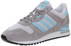 adidas Originals Men's ZX 700 Lifestyle Running Sneaker, Solid Grey/Blush  Blue/White