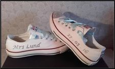 Handmade Crystal Bling Diamante Converse Shoes Customised Bridal Wedding Prom