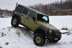 jeep commando green | Commando Green Jeep Wrangler Unlimited Rubicon with Mopar Winter ...